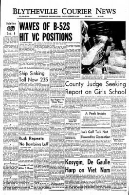 The Courier News from Blytheville, Arkansas on December 9, 1966 · Page 1