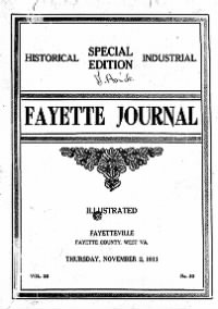 Sample The Fayette Journal front page