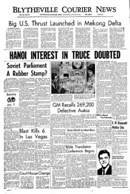 The Courier News from Blytheville, Arkansas on January 8, 1967 · Page 1