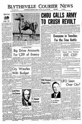 The Courier News from Blytheville, Arkansas on January 23, 1967 · Page 1