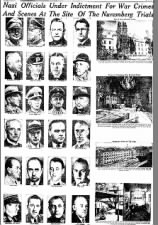 Pictures of the 24 Nazi leaders being prosecuted for war crimes at the Nuremberg Trials