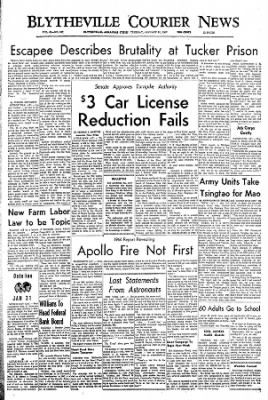 The Courier News from Blytheville, Arkansas on January 31, 1967 · Page 1
