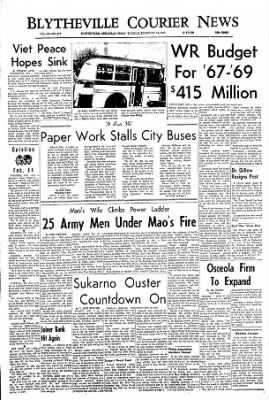 The Courier News from Blytheville, Arkansas on February 14, 1967 · Page 1