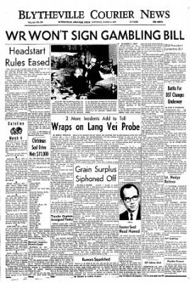 The Courier News from Blytheville, Arkansas on March 4, 1967 · Page 1
