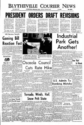 The Courier News from Blytheville, Arkansas on March 6, 1967 · Page 1