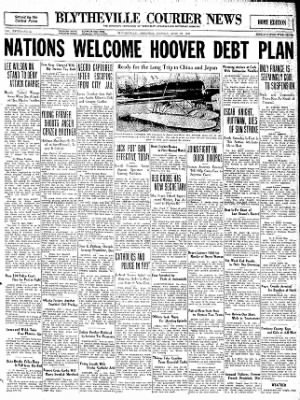 The Courier News from Blytheville, Arkansas on June 22, 1931 · Page 1