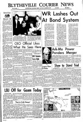 The Courier News from Blytheville, Arkansas on March 18, 1967 · Page 1