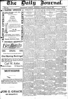 Logansport Pharos-Tribune from Logansport, Indiana on April 11, 1895 · Page 1