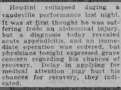 Details of Houdini's Collapse