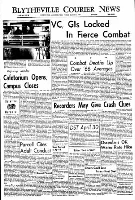 The Courier News from Blytheville, Arkansas on March 31, 1967 · Page 1