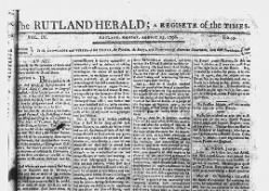 The Rutland Herald: A Register of the Times