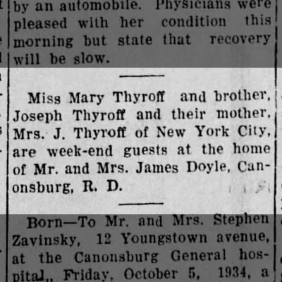 Guests, Mary Thyroff