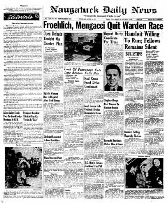 Naugatuck Daily News from Naugatuck, Connecticut on April 2, 1951 · Page 1