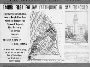 Raging fires follow 1906 San Francisco earthquake, buildings blown up to check flames