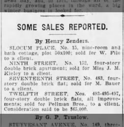 Pellman Brothers real estate Brooklyn Daily Eagle 23 Sep 1905 p8