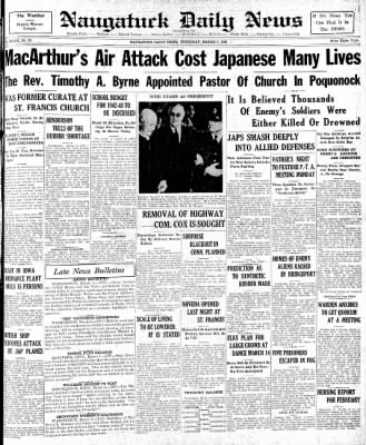 Naugatuck Daily News from Naugatuck, Connecticut on March 5, 1942 · Page 1