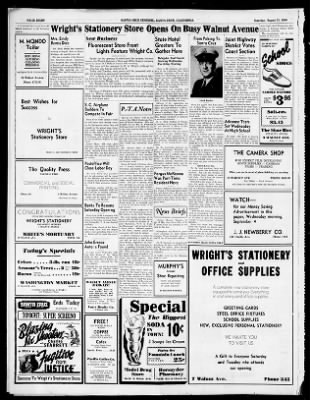 Santa Cruz Sentinel From California On August 31 1940 Page 8