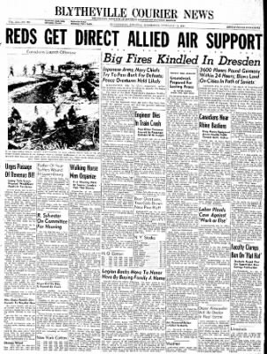 The Courier News from Blytheville, Arkansas on February 14, 1945 · Page 1