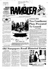 Sample Aiken County Rambler front page
