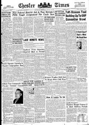 Delaware County Daily Times from Chester, Pennsylvania on January 28, 1948 · Page 1