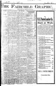 Sample The Fairchild Graphic front page