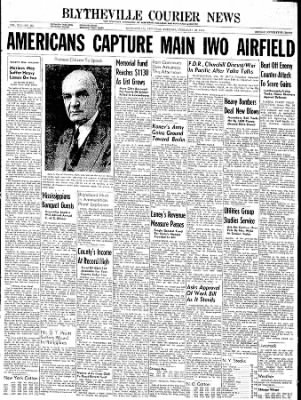 The Courier News from Blytheville, Arkansas on February 20, 1945 · Page 1