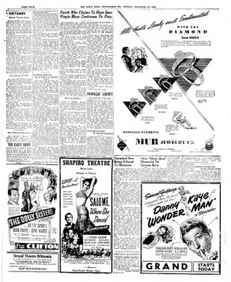 The Daily News from Huntingdon, Pennsylvania on November 12, 1945 · Page 4