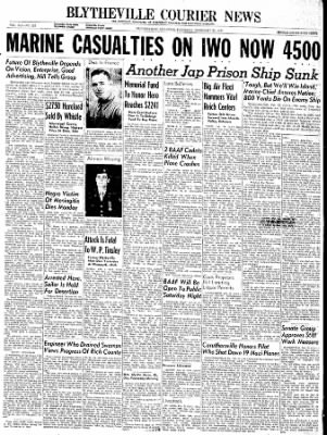 The Courier News from Blytheville, Arkansas on February 22, 1945 · Page 1