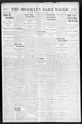 The Brooklyn Daily Eagle from Brooklyn, New York on October 24, 1912 · Page 1