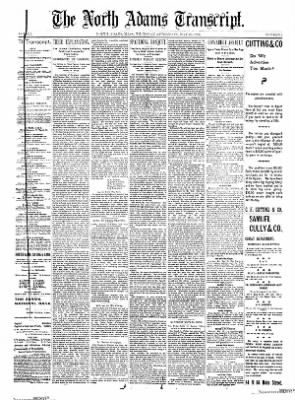 The North Adams Transcript from North Adams, Massachusetts on May 23, 1895 · Page 1