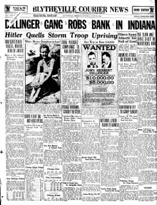 The Courier News from Blytheville, Arkansas on June 30, 1934 · Page 1