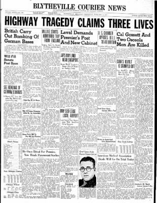 The Courier News from Blytheville, Arkansas on February 5, 1941 · Page 1