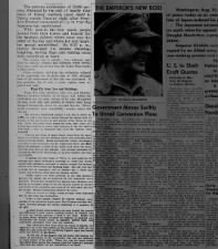Newspaper article with account of V-J Day celebrations in Indiana