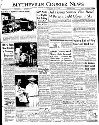 The Courier News from Blytheville, Arkansas on July 31, 1952 · Page 1