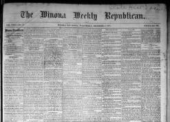 Winona Weekly Republican
