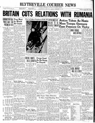 The Courier News from Blytheville, Arkansas on February 10, 1941 · Page 1