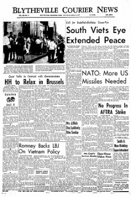 The Courier News from Blytheville, Arkansas on April 8, 1967 · Page 1