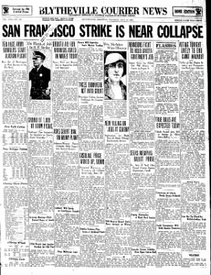 The Courier News from Blytheville, Arkansas on July 19, 1934 · Page 1