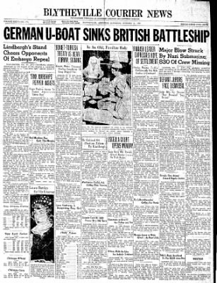 The Courier News from Blytheville, Arkansas on October 14, 1939 · Page 1