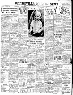 The Courier News from Blytheville, Arkansas on October 16, 1939 · Page 1