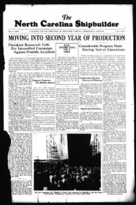 Sample The North Carolina Shipbuilder front page