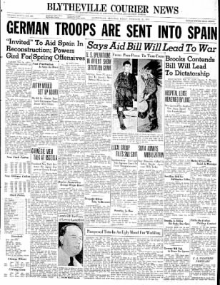 The Courier News from Blytheville, Arkansas on February 21, 1941 · Page 1