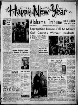 Alabama Tribune from Montgomery, Alabama on December 30, 1955 · 1