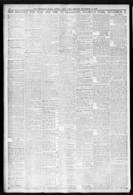 The Brooklyn Daily Eagle from Brooklyn, New York on November