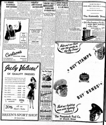 Naugatuck Daily News from Naugatuck, Connecticut on July 16, 1942 · Page 1