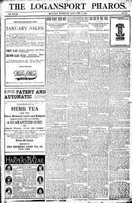 Logansport Pharos-Tribune from Logansport, Indiana on January 3, 1898 · Page 1