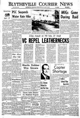 The Courier News from Blytheville, Arkansas on April 27, 1967 · Page 1