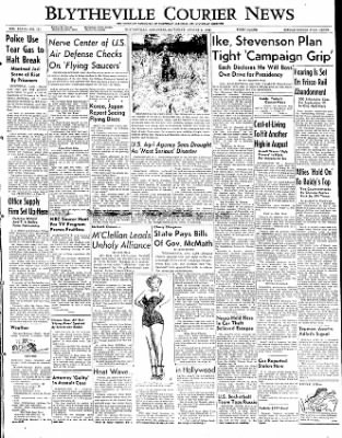 The Courier News from Blytheville, Arkansas on August 2, 1952 · Page 1