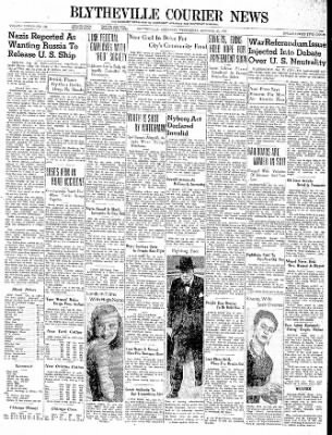 The Courier News from Blytheville, Arkansas on October 25, 1939 · Page 1