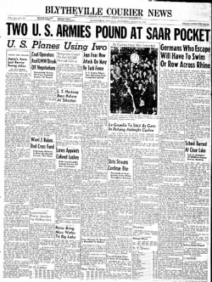 The Courier News from Blytheville, Arkansas on March 21, 1945 · Page 1